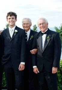 Me, my granddad, and my dad on my wedding day
